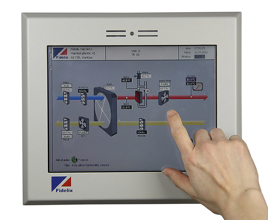 FX-2025a substation with 10.4 inch touchscreen